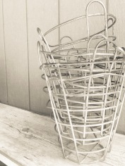 Stacked Metal Baskets