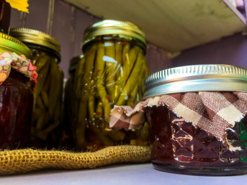 Canned Green Beans & Jam